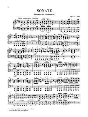 Franz Schubert: Piano Sonata in G Major Op. 78: Piano