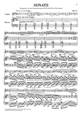 Johannes Brahms: Sonata For Piano And Violin In G Major Op.78: Violin