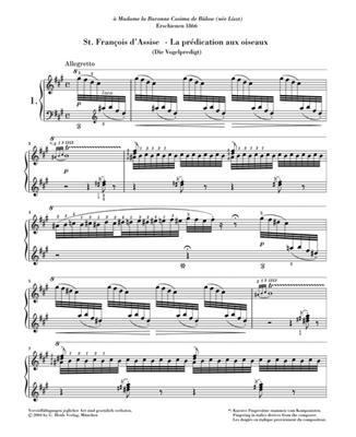 Franz Liszt: Two Legends: Piano