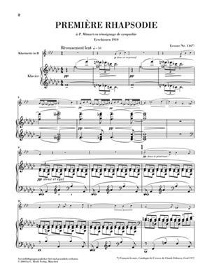 Claude Debussy: Première Rhapsodie Und Petite Pièce: Clarinet