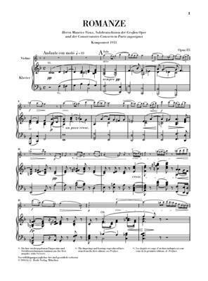 Max Bruch: Romanze Fur Viola Und Orchester F-Dur Op 85: Violin
