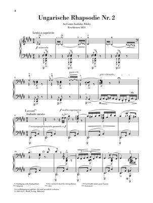 Franz Liszt: Hungarian Rhapsody No.2: Piano