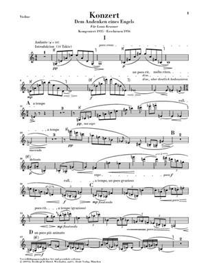 A. Berg: Violinkonzert: Violin