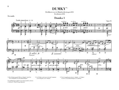 Antonín Dvořák: Dumky - Piano Trio Op.90: Piano Duet