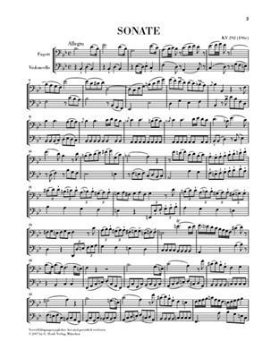 Wolfgang Amadeus Mozart: Sonata In B Flat K.292: Bassoon