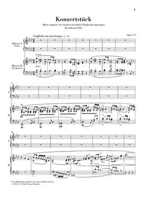 Carl Maria von Weber: Konzerstuck Fur Klavier Un Orchester F-Moll Op 79: Piano Duet