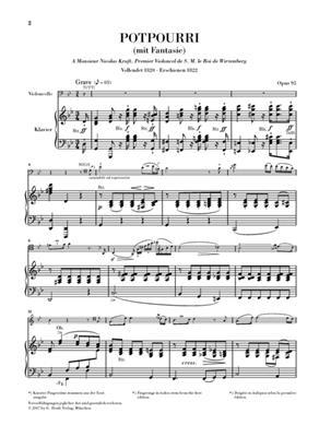 Johann Nepomuk Hummel: Potpourri (Fantasie) op. 95: Orchestra