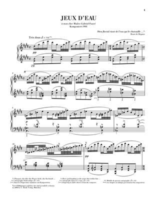 Maurice Ravel: Jeux d'eau: Piano