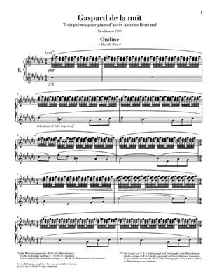 Maurice Ravel: Gaspard De La Nuit - Henle Urtext: Piano