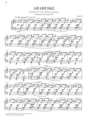 Robert Schumann: Arabesque In C Op.18: Piano