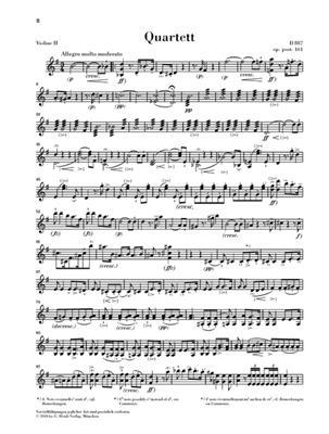Franz Schubert: Steirquartett G Dur Op Post 161 D 887: String Quartet