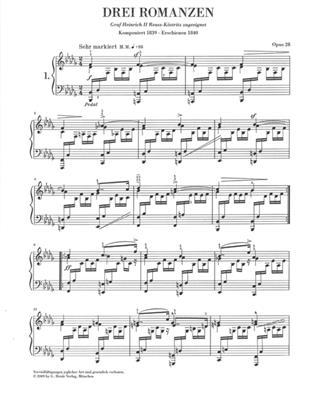 Robert Schumann: Three Romances Op.28: Piano