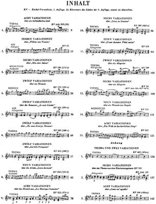 Wolfgang Amadeus Mozart: Works for Piano Solo: Piano
