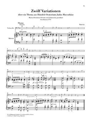 Ludwig van Beethoven: Variations For Piano & Violoncello Urtext: Cello