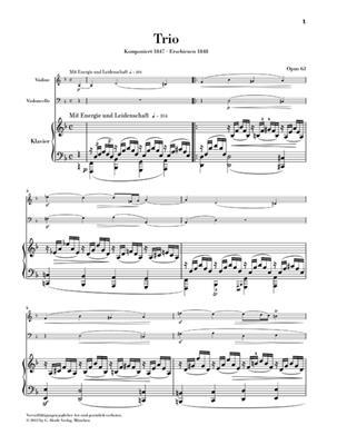 Robert Schumann: Werke für Klaviertrio: Piano Trio