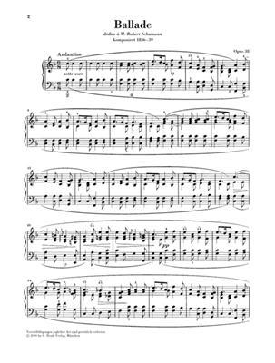 Frédéric Chopin: Ballade In F Major Op.38: Piano