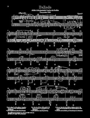 Frédéric Chopin: Ballade Ina Flat Major Op 47: Piano