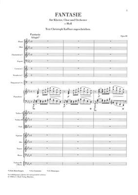 Ludwig van Beethoven: Chorus Fantasy In C Minor Op. 80: Mixed Choir
