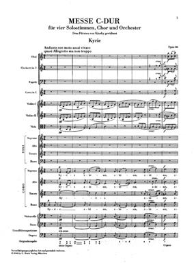 Ludwig van Beethoven: Mass C major op. 86: SATB