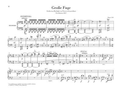 Ludwig van Beethoven: Grand Fugue Op.134 - Piano Four-Hands: Piano