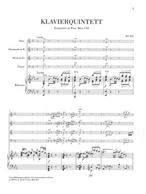 Wolfgang Amadeus Mozart: Piano Quintet E Flat K.452: Piano Quintet