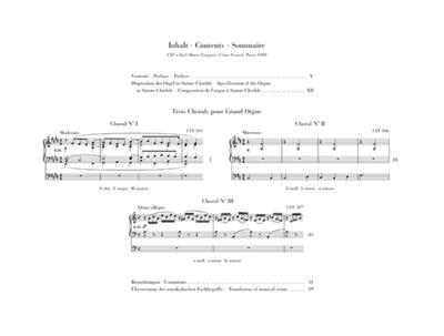Trois Chorals Pour Grand Orgue: Organ