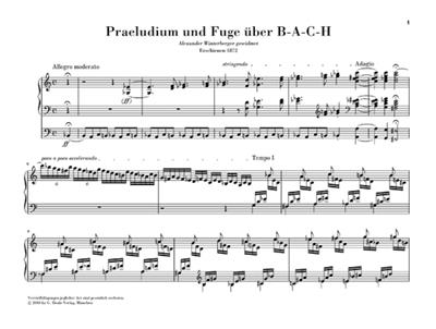 Franz Liszt: Prelude and Fugue on B-A-C-H for Organ: Organ