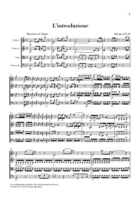 Franz Joseph Haydn: Die Sieben Letze Worte Unseres Erlösers Am Kreuze: String Quartet