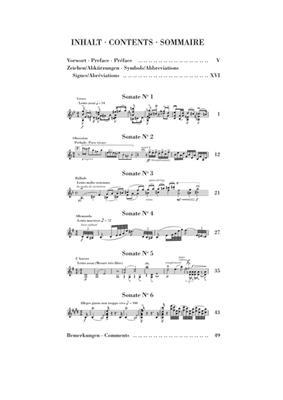 Eugène Ysaÿe: Sechs Sonaten op. 27 für Violine solo: Violin