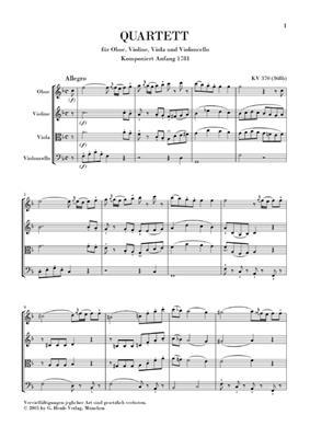 Wolfgang Amadeus Mozart: Oboe Quartet in F K.370 / 368b: Chamber Ensemble
