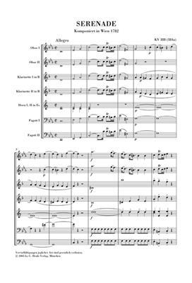 Wolfgang Amadeus Mozart: Serenade KV 388 Fur Blaseroktett: Wind Ensemble