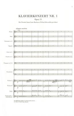 Ludwig van Beethoven: Piano Concerto No.1 In C Op.15 - Study Score: Piano Duet