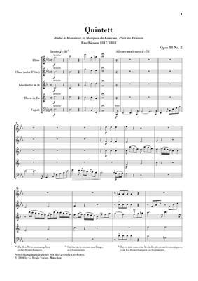 Anton Reicha: Bläserquintett Es-dur Opus 88 Nr. 2: Wind Ensemble