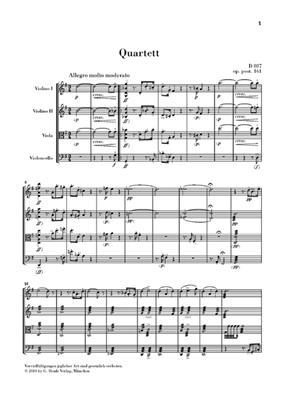 Franz Schubert: String Quartet In G Major Op. post. 161 D 887: String Quartet