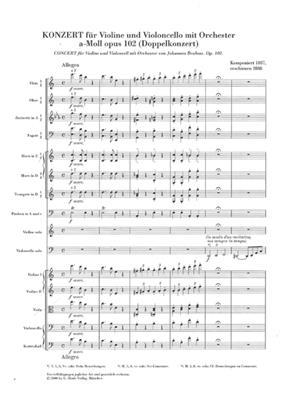 Johannes Brahms: Doppelkonzert A-Moll Op. 102: Violin & Cello