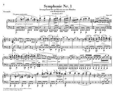 Johannes Brahms: Symphonies Nos. 1 and 2 - Piano Four-hands: Piano Duet