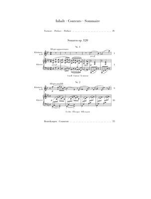 Johannes Brahms: Clarinet Sonatas Op. 120 (Clarinet in B Flat): Clarinet