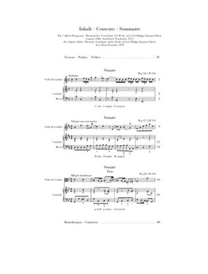 Carl Philipp Emanuel Bach: Gambensonaten Wq 88, 136, 137: Viola da Gamba