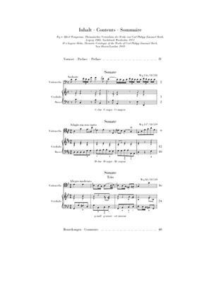 Carl Philipp Emanuel Bach: Gambensonaten Wq 88, 136, 137: Cello