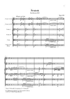 Ludwig van Beethoven: Sextet In E Flat Op.81b - Urtext Study Score: French Horn & Cello