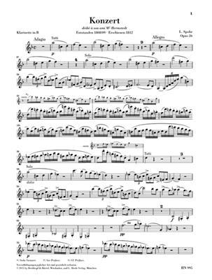 Spohr: Klarinettenkonzert Nr. 1: Clarinet