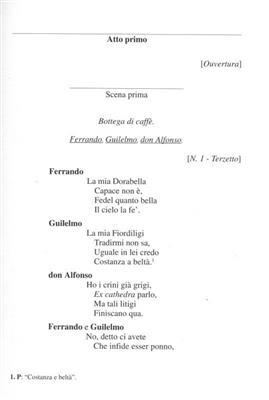 Wolfgang Amadeus Mozart: Cosi' Fan Tutte