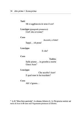 Gioachino Rossini: Zelmira: Opera Text Book
