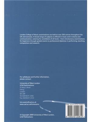 London College Music: LCM Drum Kit Handbook 2009