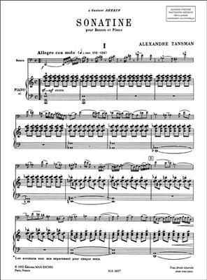Alexandre Tansman: Sonatine: Bassoon