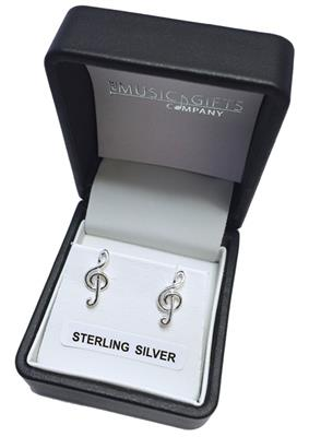 Music Gift Treble Clef Stud Earrings: Gifts
