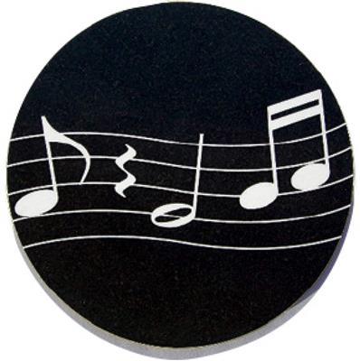 Mugmats Wavy Music Black: Gifts