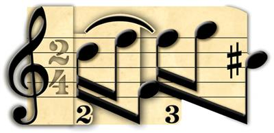 3D Card Prelude Music Notes: Gifts