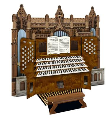 3D Card Cathedral Organ: Gifts