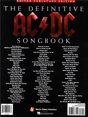 AC/DC: The Definitive AC/DC Songbook-Updated Edition: Guitar TAB